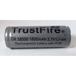 TrustFire TR 18500 PCB 1800mAh button top battery