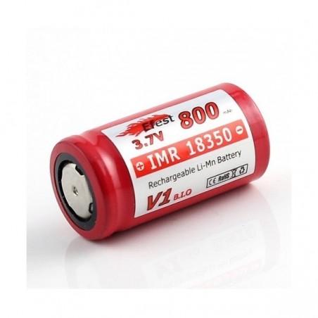 Efest IMR 18350 800mAh 3.7V LiMn Battery flat top