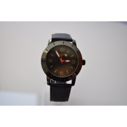VAPO watch black quadrant yellow writing