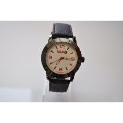 VAPO watch white quadrant red writing