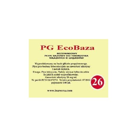 Inawera - PG EcoBaza 26 mg - 100 ml