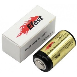 Efest 16340 Li-ion battery 850mAh with PCB button top