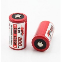 Efest IMR 18350 800mAh 3.7V LiMn Battery with button top