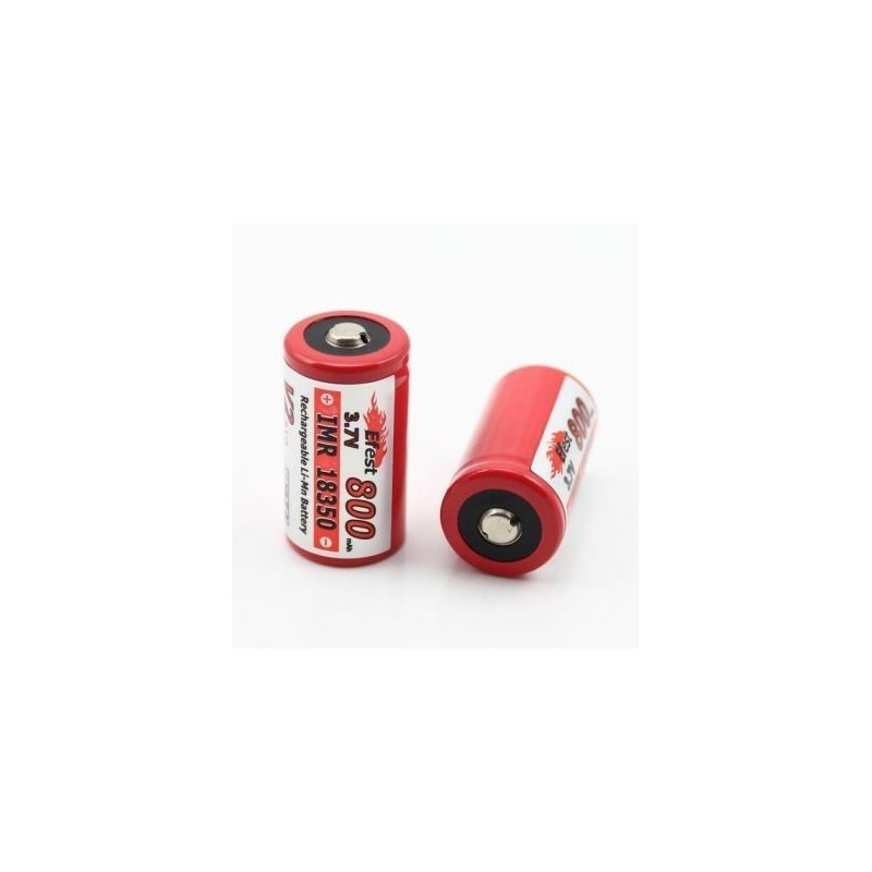 Acumulator Efest IMR 18350 800mAh 3.7V button top
