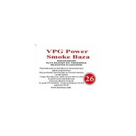 Inawera - VPG Smoke Base Power 24mg - 100 ml