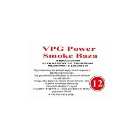 Inawera - VPG Smoke Base Power 12mg - 100 ml