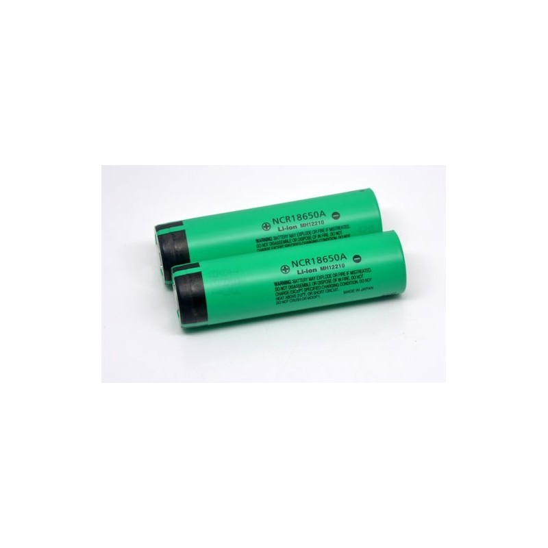 Panasonic NCR18650A 3100mAh flat top battery flat top without PCB
