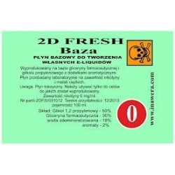 Inawera - 2D Fresh Baza 0mg - 100 ml