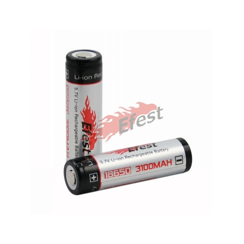 Efest 18650 3100mah Protected Liion battery with flat top