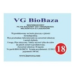 Inawera - VG Biobaza 18mg - 100 ml
