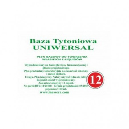 Inawera - universal base 12 mg - 100 ml