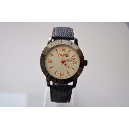VAPO watch white quadrant orange writing