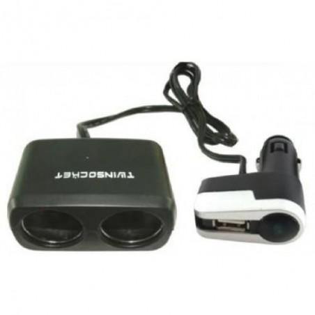Incarcator / prelungitor auto cu mufa USB