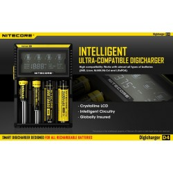 Incarcator inteligent Nitecore Digicharger D4 (model 2017)