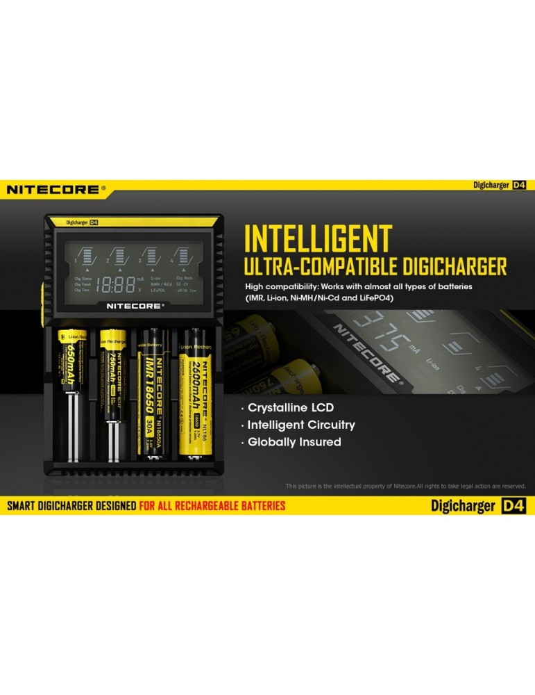 Incarcator inteligent Nitecore Digicharger D4