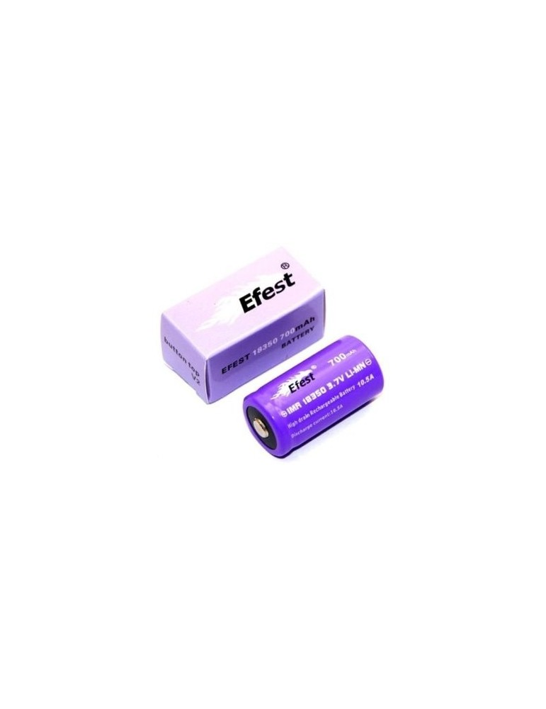 Efest IMR 18350 High Drain 10.5amp Button Top 700mah Rechargeable Battery