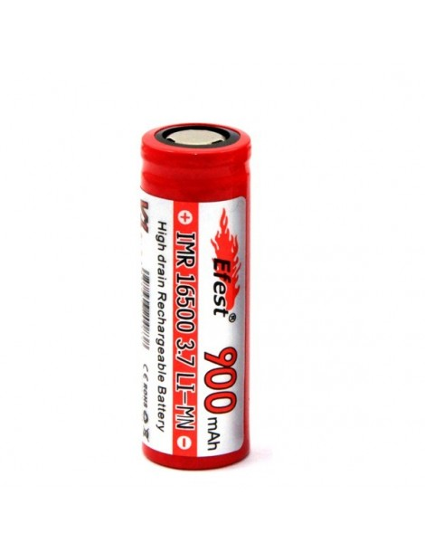 16500 flat top 900mAh Efest rechargeable battery high drain without PCB