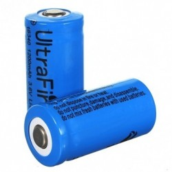 UltraFire Battery 16340 1200mAh 3.6V  Li-ion button top