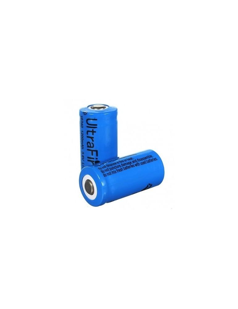 Acumulator  UltraFire 16340 1200mAh 3.6V  Li-ion button top