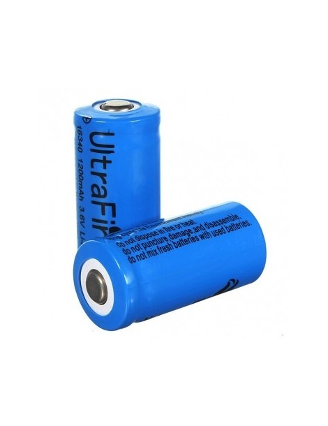 Acumulator  UltraFire 16340 1200mAh 3.6V  Li-ion button top