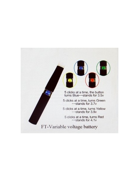Variable Voltage 1100 mAh Battery from FT (Famous Tech)
