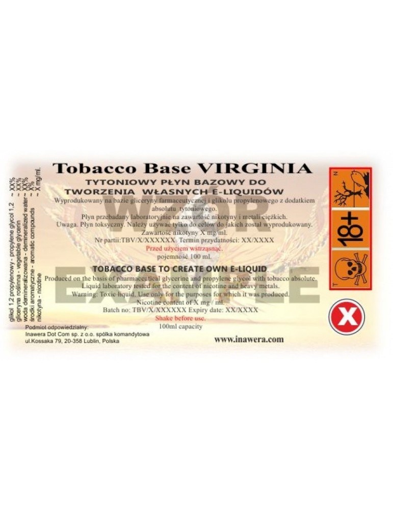 Baza VBT - Virginia Baza Tutun 18mg - 100ml