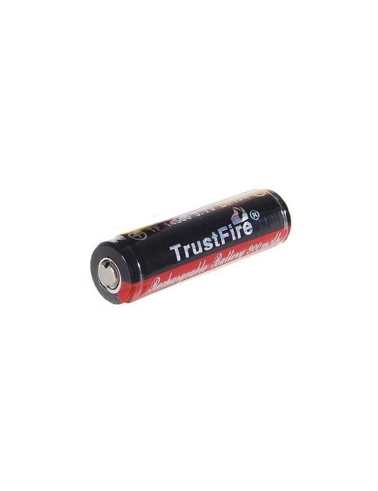 Acumulator Trustfire 14500 button top 900mAh cu PCB