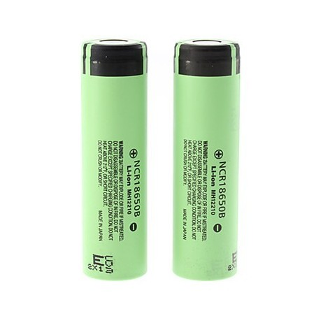 Panasonic Battery 18650B without PCB 3400mAh 3.7V Li-ion flat top