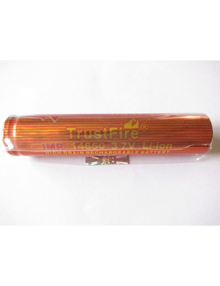 Trustfire IMR 14650 High Drain 950mAh 3.7V Li-ion flat top battery