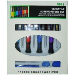 Screwdrivers and tweezers kit - 16 pieces