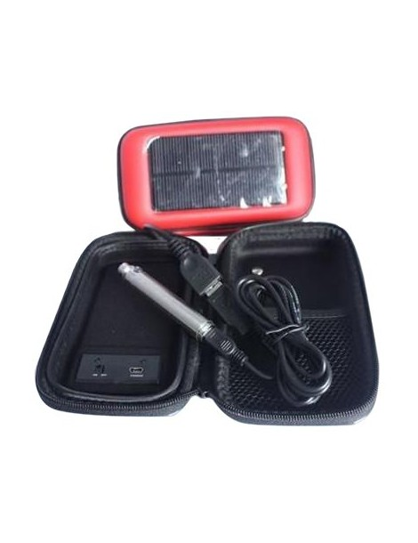 Solar panel case for charging of various electronic devices