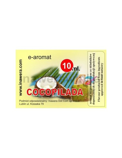 Cocopilada (cocktail nuca de cocos) 10ml