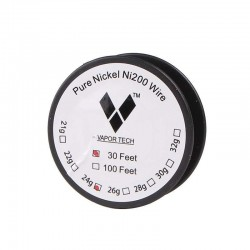 Pure Nickel Coil Ni200 Wire 30 Feet long - Gauge 24