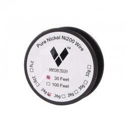Pure Nickel Coil Ni200 Wire 30 Feet long - Gauge 24