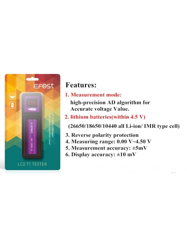 Efest T1 Battery Voltage Tester