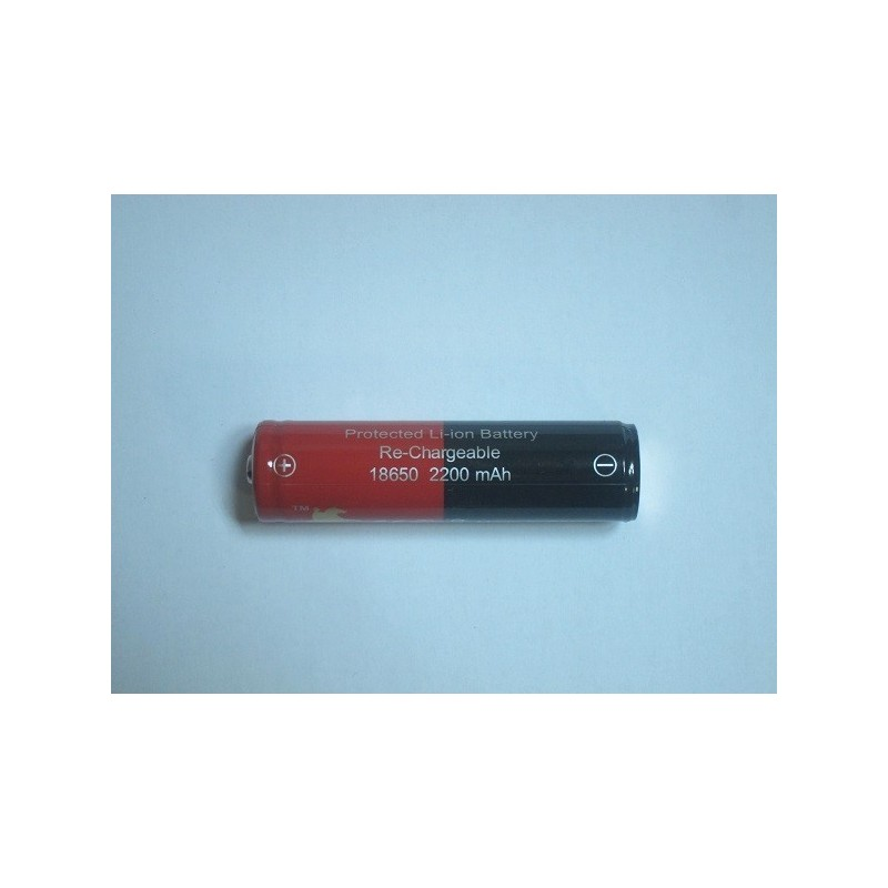 Acumulator cu protectie 18650 L-Rider 2200mAh button top