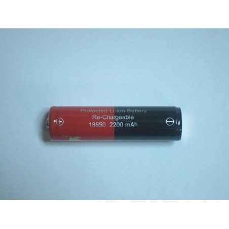 L-Rider 18650 protected 2200mAh button top battery