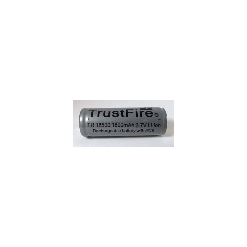TrustFire TR 18500 PCB 1800mAh button top battery