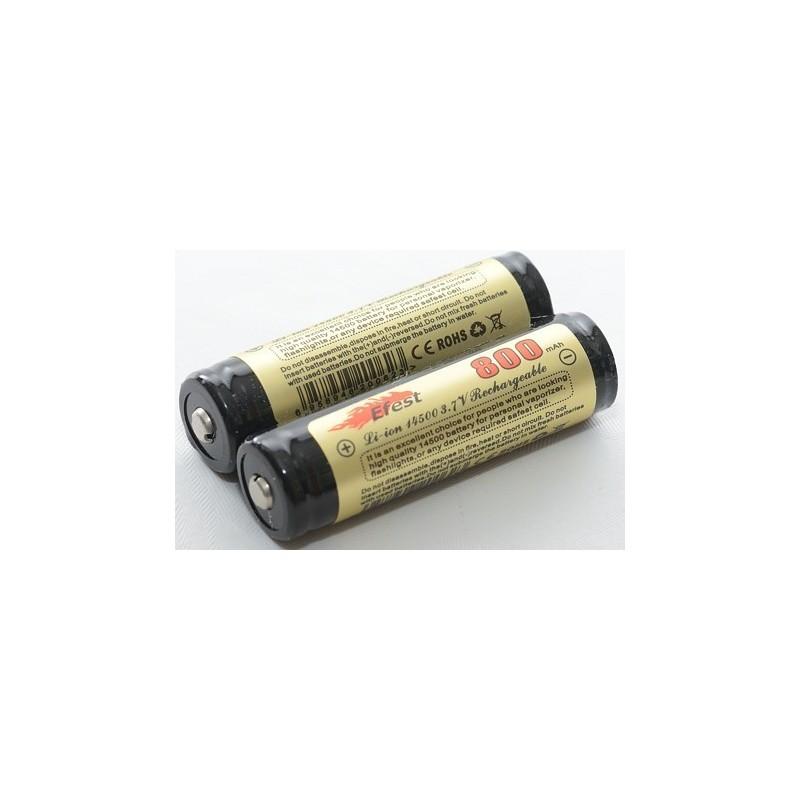 Acumulator Efest V2 with PCB tip 14500 800mAh 3.7V button top