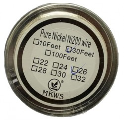 Pure Nickel Coil Ni200 Wire 30 Feet long - Gauge 30
