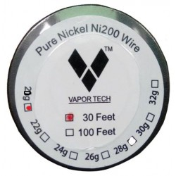 Vapor Tech Pure Nickel Coil Ni200 Wire 30ft - Gauge 20
