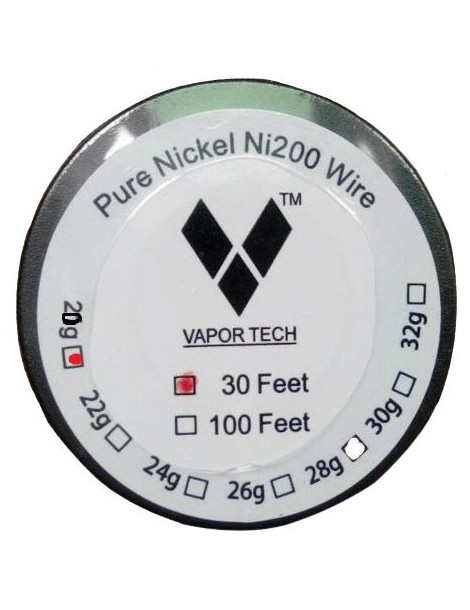 Vapor Tech Pure Nickel Coil Ni200 Wire 30ft - Gauge 20