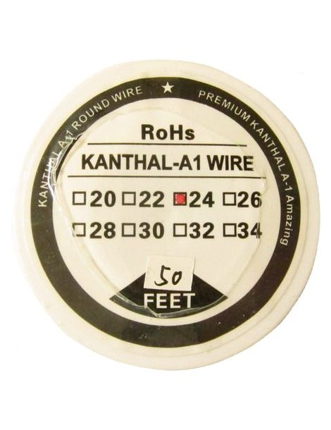 Kanthal A1 Resistance Wire 24 Gauge 50 ft
