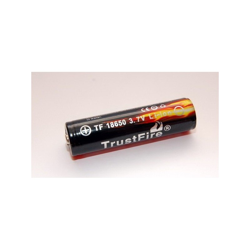 Trustfire Battery 18650 with PCB 3000mAh 3.7V  Flat Top