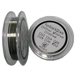 Nickel Coil Ni200 sarma rezistente 0.2mm - 10 metri