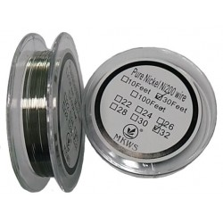 Pure Nickel Coil Ni200 Wire 30 Feet long - Gauge 32