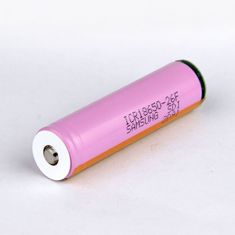 Samsung ICR18650 PCB Battery 2600mAh Button Top