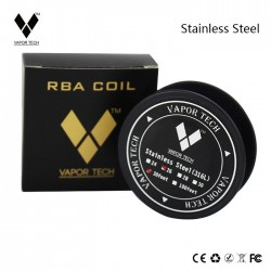 Sarma Stainless Steel SS 316L wire 26ga (0.4) by Vapor Tech