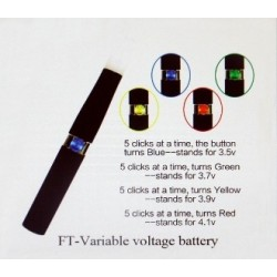 Variable Voltage 900 mAh Battery from FT (Famous Tech)