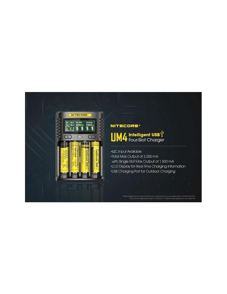 Nitecore UM4, Încărcător USB, Mod QC